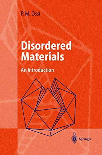 9783540413288: Disordered Materials
