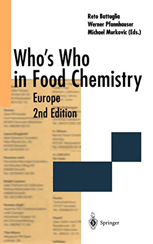 9783540414483: Who?s Who in Food Chemistry: Europe