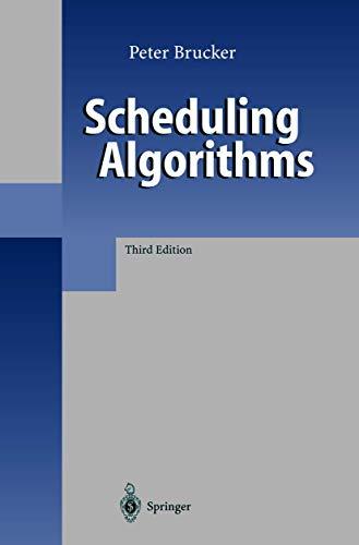 9783540415107: Scheduling Algorithms