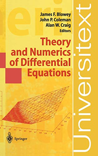 9783540418467: Theory and Numerics of Differential Equations: Durham 2000 (Universitext)