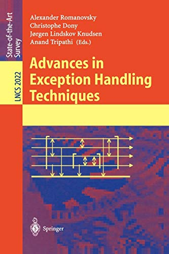 9783540419525: Advances in Exception Handling Techniques (Lecture Notes in Computer Science)