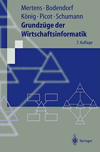 9783540419785: Grundzüge der Wirtschaftsinformatik (Livre en allemand)
