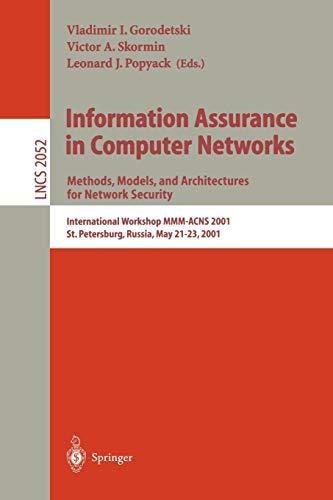 Information Assurance in Computer Networks : Methods,