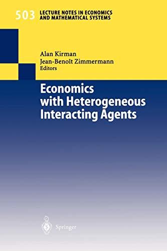 9783540422099: Economics with Heterogeneous Interacting Agents