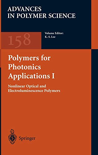 9783540423843: Polymers for Photonics Applications I (Advances in Polymer Science) (Pt. 1)