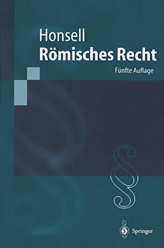 9783540424550: Römisches Recht (Springer-Lehrbuch) (German Edition)