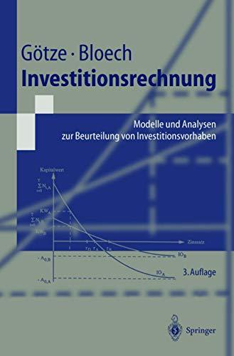 9783540424666: Investitionsrechnung. Modelle und Analysen zur Beurteilung von Investitionsvorhaben.