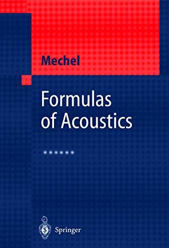 9783540425489: Formulas of Acoustics