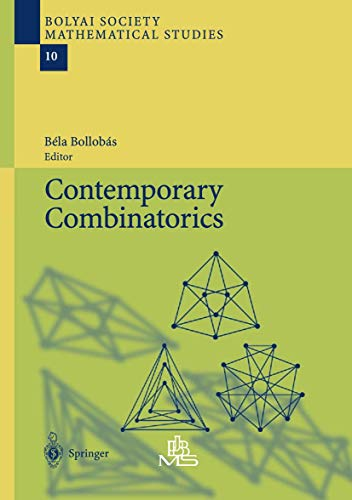 9783540427254: Contemporary Combinatorics
