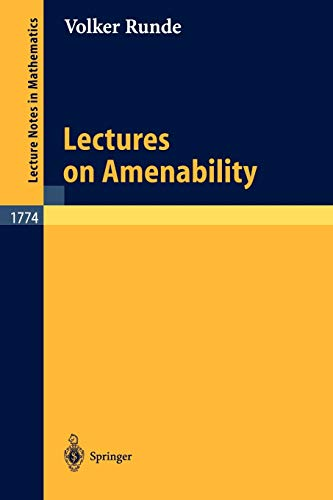 9783540428527: Lectures on Amenability