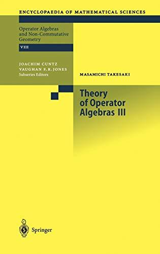 9783540429135: Theory of Operator Algebras III