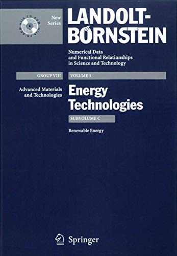 9783540429623: Renewable Energy (Landolt-Börnstein: Numerical Data and Functional Relationships in Science and Technology - New Series)