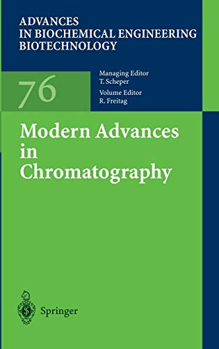 9783540430421: Modern Advances in Chromatography (Advances in Biochemical Engineering/Biotechnology)