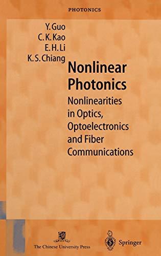 Nonlinear Photonics: Y. Guo