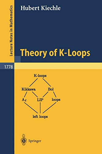 9783540432623: Theory of K-Loops (Lecture Notes in Mathematics)