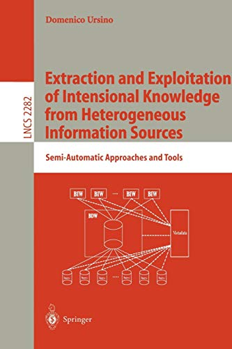 9783540433477: Extraction and Exploitation of Intensional Knowledge from Heterogeneous Information Sources: Semi-Automatic Approaches and Tools (Lecture Notes in Computer Science)