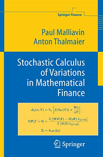 9783540434313: Stochastic Calculus of Variations in Mathematical Finance