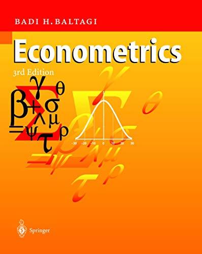 9783540435013: Econometrics
