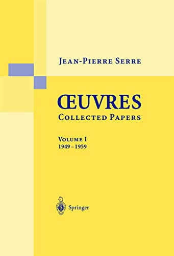 9783540435624: Oeuvres - Collected Papers I: 1949 - 1959 (English and French Edition)