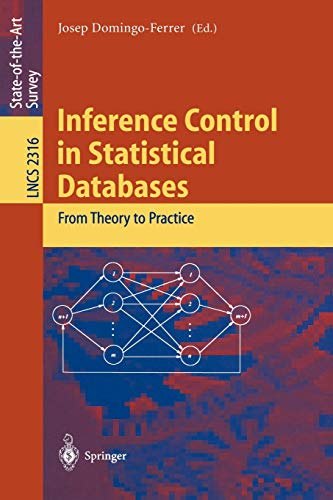 9783540436140: Inference Control in Statistical Databases: From Theory to Practice (Lecture Notes in Computer Science)