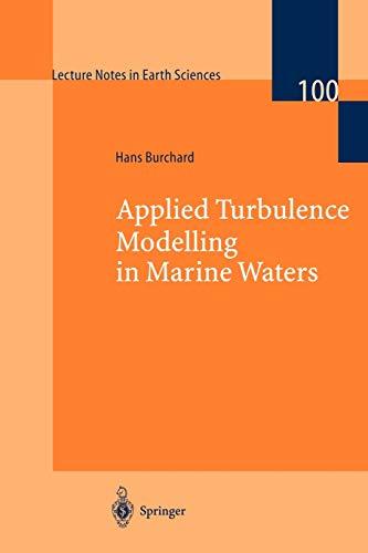 9783540437956: Applied Turbulence Modelling in Marine Waters