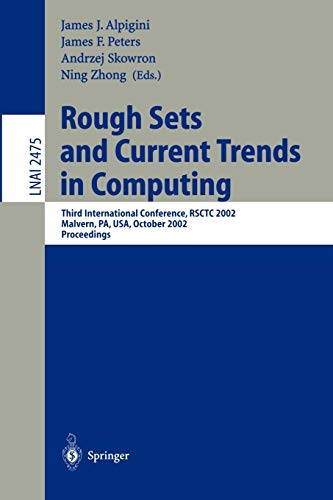 Rough Sets and Current Trends in Computing: Springer