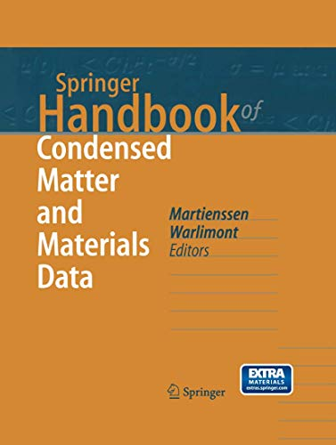 Springer Handbook of Condensed Matter and Materials Data [With CDROM] (Hardcover)