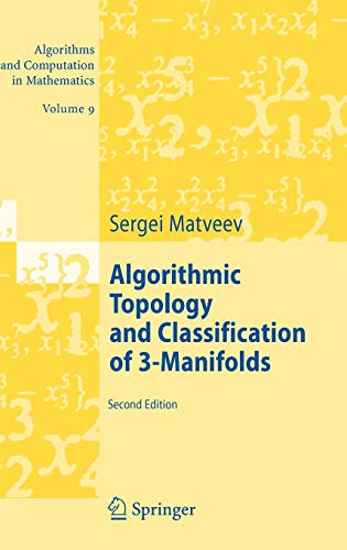 9783540458982: Algorithmic Topology and Classification of 3-Manifolds (Algorithms and Computation in Mathematics)