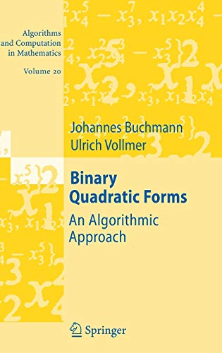 Binary Quadratics Forms, by Buchmann: Buchmann, Johannes/ Vollmer,