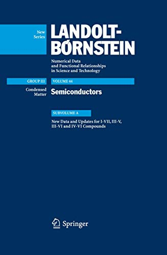 9783540485285: New Data and Updates for I-VII, III-V, III-VI and IV-VI Compounds (Landolt-Börnstein: Numerical Data and Functional Relationships in Science and Technology - New Series)