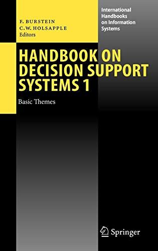 9783540487128: Handbook on Decision Support Systems 1: Basic Themes (International Handbooks on Information Systems)