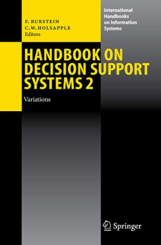 Handbook on Decision Support Systems 2: Frada Burstein