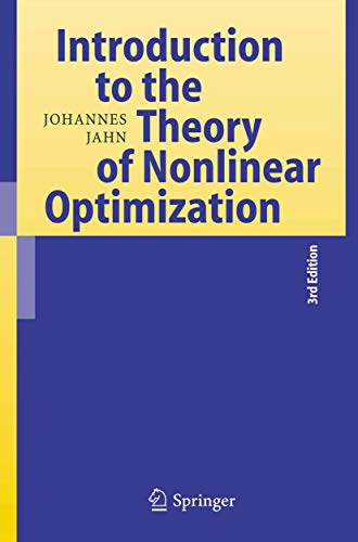 9783540493785: Introduction to the Theory of Nonlinear Optimization