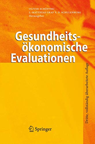 9783540495581: Gesundheitsökonomische Evaluationen (German Edition)