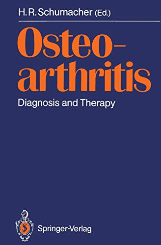 9783540500001: Osteoarthritis: Diagnosis and Therapy Proceedings of an International Meeting