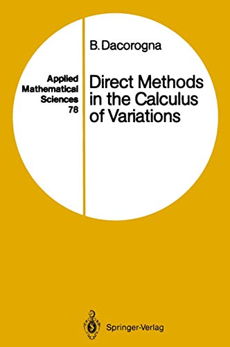 9783540504917: Direct Methods in the Calculus of Variations: v. 78