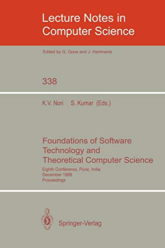 Foundations of Software Technology and Theoretical Computer: Sanjeev Kumar, Kesav