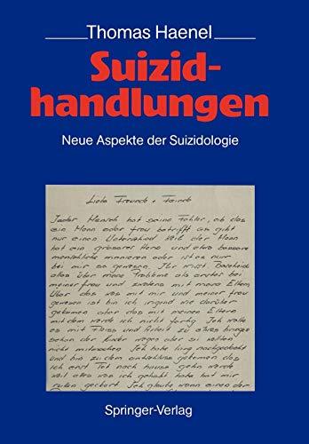 9783540505334: Suizidhandlungen: Neue Aspekte der Suizidologie