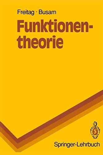 9783540506188: Funktionentheorie (Springer-Lehrbuch) (German Edition)