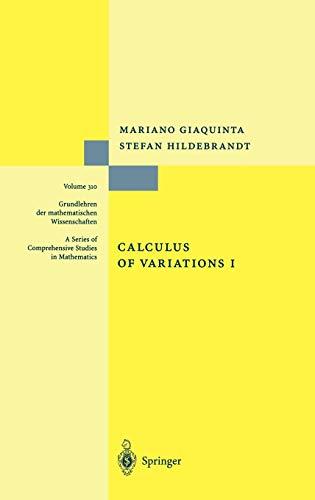 9783540506256: Calculus of Variations I (Grundlehren der mathematischen Wissenschaften) (Vol 1)