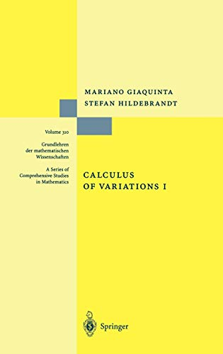 9783540506256: Calculus of Variations I: The Lagrangian Formalism