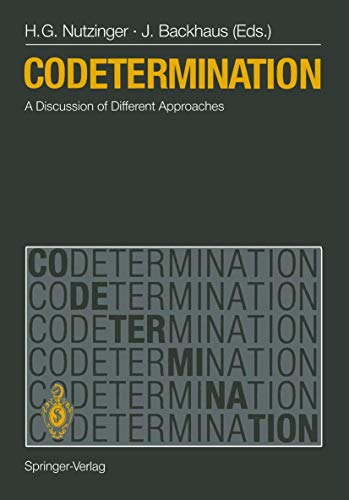 9783540506485: Codetermination: A Discussion of Different Approaches