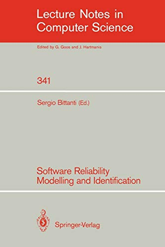 9783540506959: Software Reliability Modelling and Identification (Lecture Notes in Computer Science)