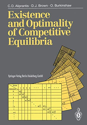 9783540508113: Existence and Optimality of Competitive Equilibria