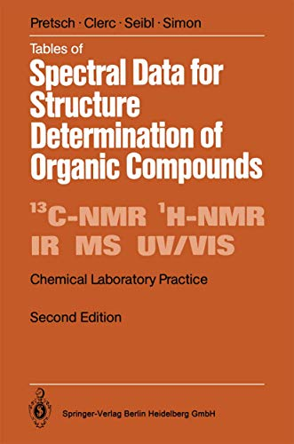 9783540512028: Tables of Spectral Data for Structure Determination of Organic Compounds (Chemical Laboratory Practice)