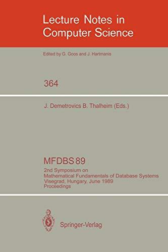 MFDBS 89: 2nd Symposium on Mathematical Fundamentals