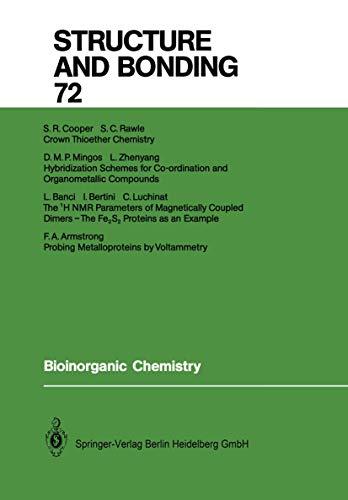 9783540515746: Bioinorganic Chemistry (Structure and Bonding)