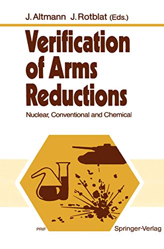 9783540515968: Verification of Arms Reductions: Nuclear, Conventional and Chemical