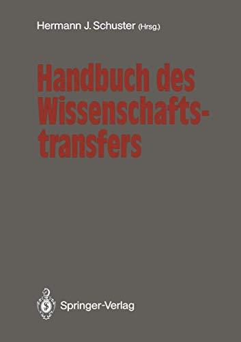 9783540516231: Handbuch des Wissenschaftstransfers