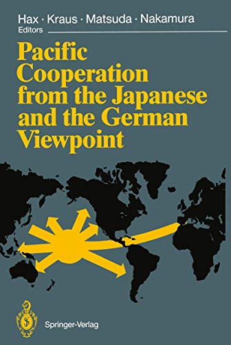9783540516941: Pacific Cooperation from the Japanese and the German Viewpoint